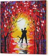 Dancing Sunset Original Painting Wood Print