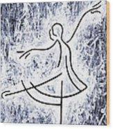 Dancing Swan Wood Print by Kamil Swiatek