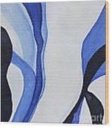 Dancing The Blues Wood Print