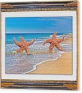 Dancing To The Beat Of The Sea Wood Print