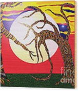Dancing Trees Wood Print by Lewanda Laboy