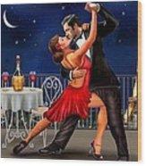 Dancing Under The Stars Wood Print