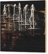 Dancing Waters Wood Print