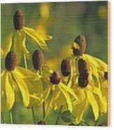 Dancing Wildflowers Wood Print