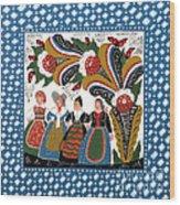 Dancing Women Wood Print