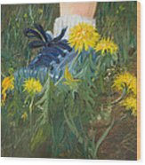 Dandelion Dance Wood Print