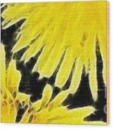 Dandelion Expressive Brushstrokes Wood Print