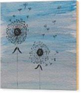 Dandelion Wind Wood Print