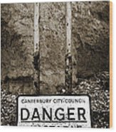 Danger Wood Print by Mark Rogan
