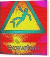 Danger Of Falling Wood Print