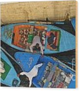Dangerous Manouvers At The Nile River Canal Locks Wood Print