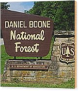 Daniel Boone Wood Print