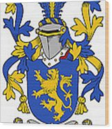Daniel Coat Of Arms Irish Wood Print