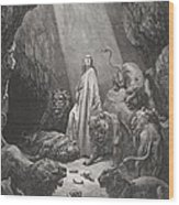 Daniel In The Den Of Lions Wood Print