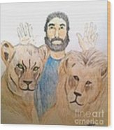 Daniel in the Lions' Den Wood Print