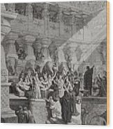 Daniel Interpreting The Writing On The Wall Wood Print by Gustave Dore