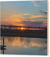 Daniel Island Sunset Wood Print