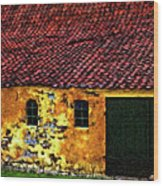 Danish Barn Impasto Version Wood Print by Steve Harrington