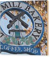 Danish Mill Bakery In Solvang California Wood Print