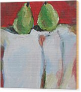 Danjour Pears  Wood Print by Becky Kim