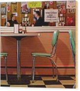 Dan's Diner Wood Print