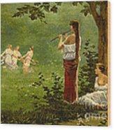 Dans La Prairie 1890 Wood Print