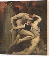 Dante And Virgil Wood Print