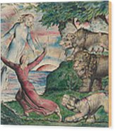 Dante Running From The Three Beasts Wood Print