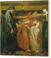 Dantes Dream At The Time Of The Death Of Beatrice 1856 Wood Print