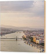Danube Sunset Wood Print