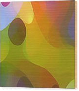 Dappled Light Panoramic Vertical 3 Wood Print