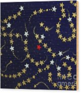 Dare To Be Different - Stars - Blazing Trails Wood Print
