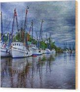 Darien Harbor Wood Print