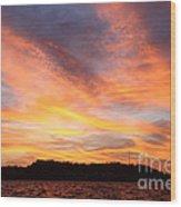 Darien Sunset Wood Print