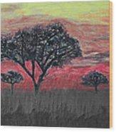 Dark Africa Wood Print