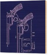 Dark Beaumont Revolver Patent Wood Print