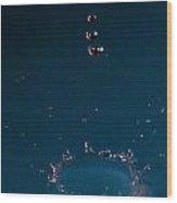 Dark Blue Splash Wood Print