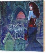 Dark Bride Wood Print