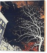 Dark City Wood Print