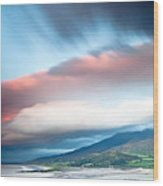 dark clouds over Irish coast Dingle peninsula Wood Print