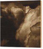 Dark Clouds Wood Print