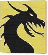 Dark Dragon Wood Print