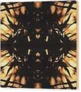 Dark Flame Of Nature Wood Print
