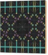 Dark Grid Quilt Wood Print