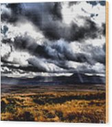 Dark Heather Wood Print