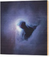 Dark Nebula Cloud  Wood Print