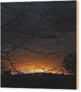 Dark Of Night Wood Print