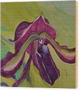 Dark Orchid Wood Print