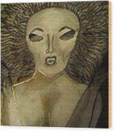 Dark Queen Wood Print
