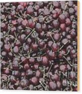 Dark Red Cherries For Sale Wood Print